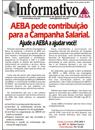 AEBA pede contribuição para a Campanha Salarial. Ajude a AEBA a ajudar você!