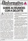 Sobre as reuniões com a Deloitte